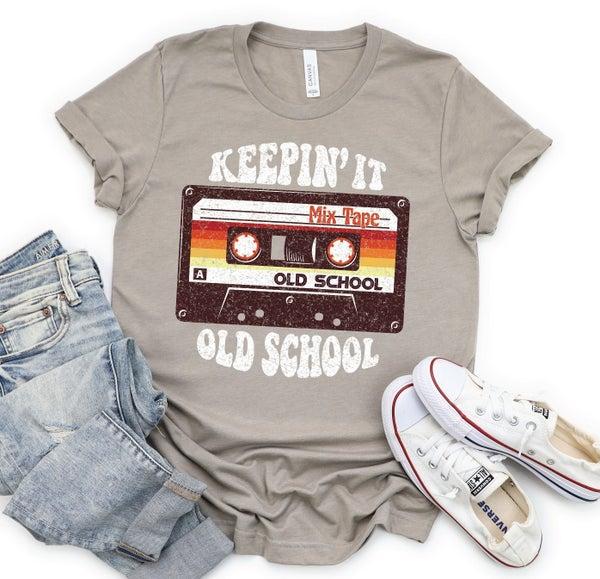 KEEPIN' IT OLD SCHOOL Graphic Tee