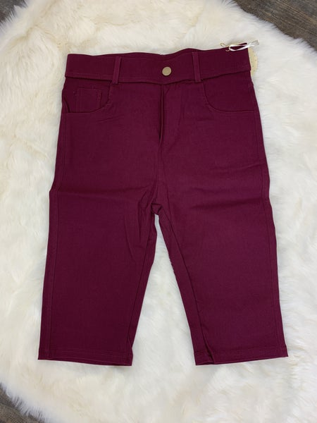 Wine Bermuda Shorts