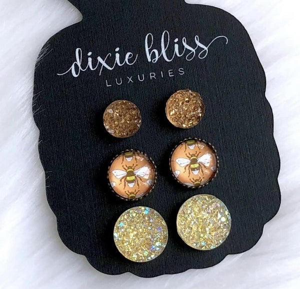 Dixie Bliss Beatrice trio studs.