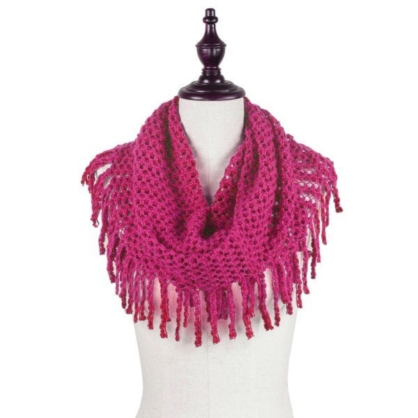 All The Fringe Scarf Pink