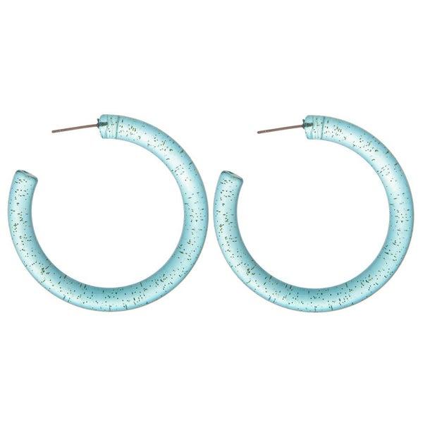 Clear Aqua hoops