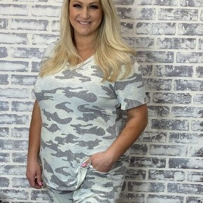 Hello Camo! Honeyme Loungin Around Town Shorts