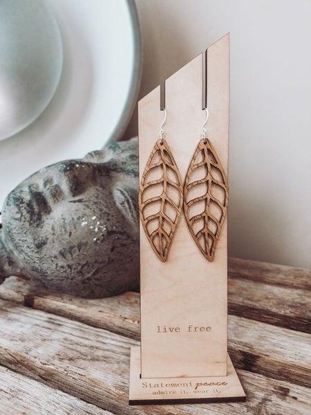 Statement Peace Earrings Leaves