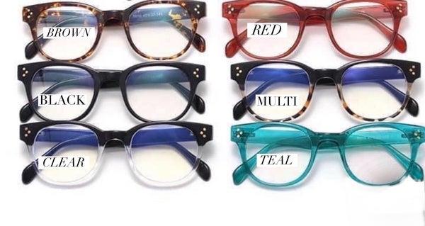 Eden Blue Blocker Glasses