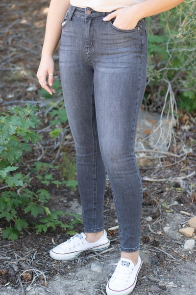 Judy Blue Grey High Waist Skinny Jean