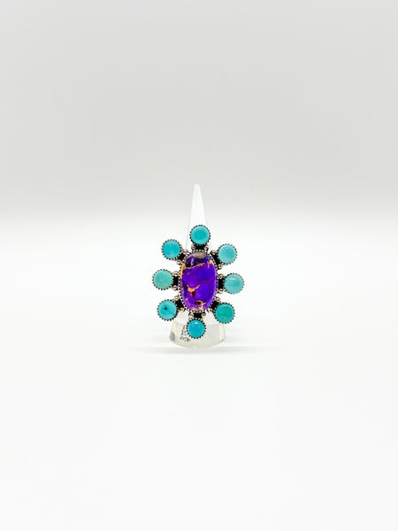 Purple Turquoise Sterling Silver