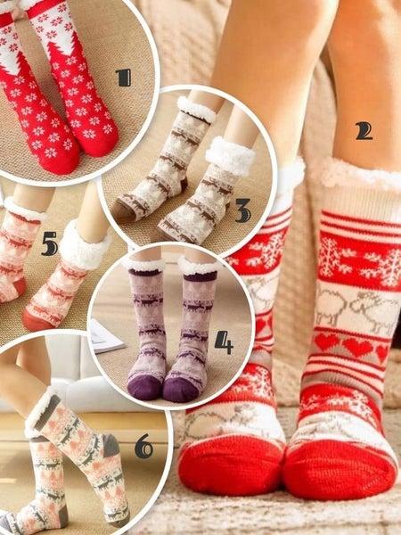 Sherpa Christmas Socks