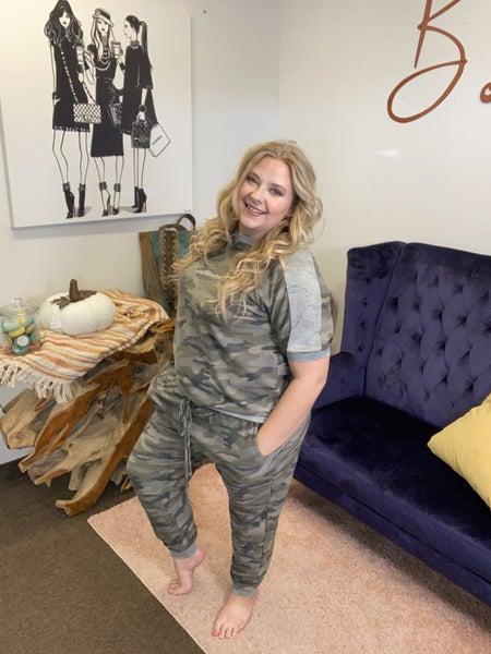 Army Curvy Fit Lounge Set