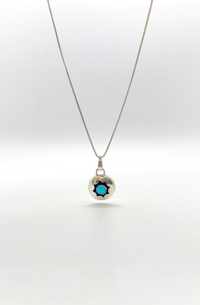 Native Sterling Silver & Turquoise Necklace