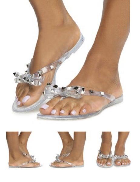 Jelly Studded Flip Flop