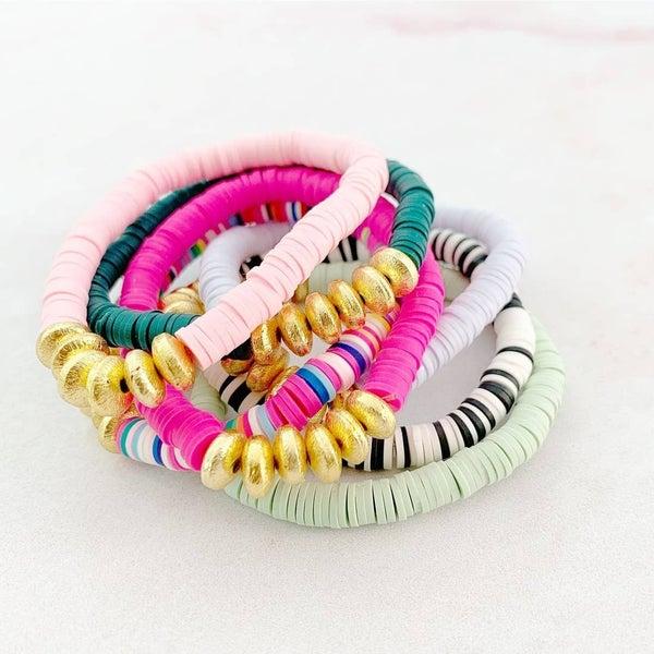 Heishi Hand Beaded Bracelet