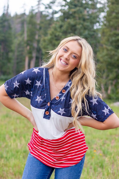 Red White And Blue Top
