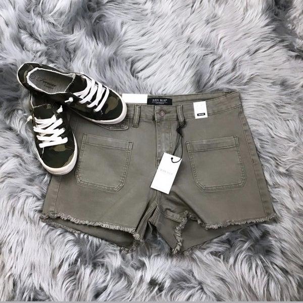 Judy Blue Army Green Shorts