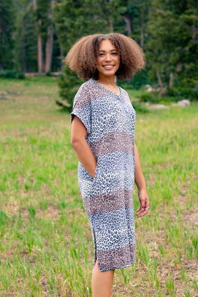 Mel Animal Print Maxi Dress