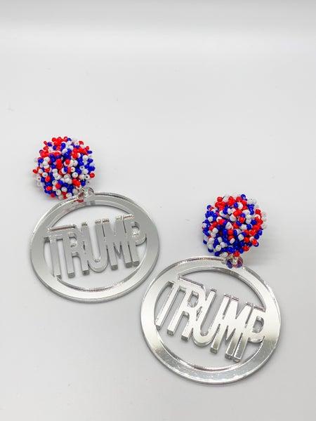 TRUMP Mirror Earrings
