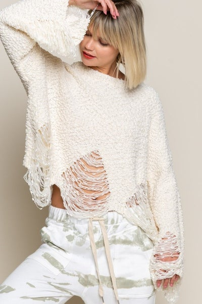 POL Pearled Ivory Sweater