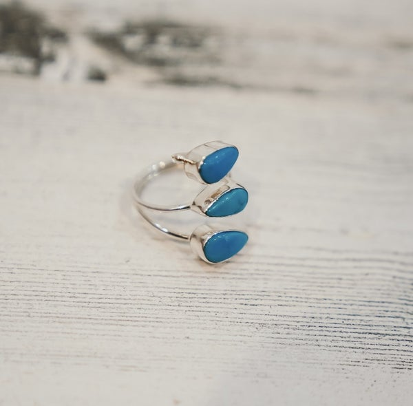 Turquoise Sterling Silver Adjustable Ring