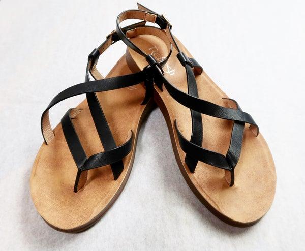 Criss Cross Strap Sandal