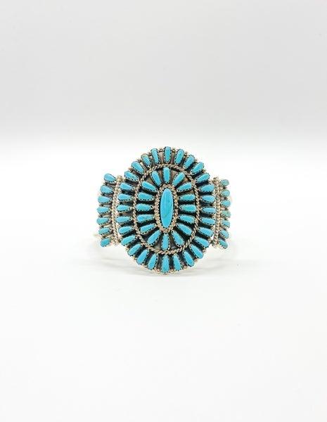 Squash Blossom Turquoise Bracelet