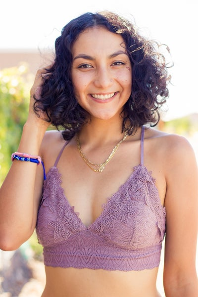 Lace Combo Bralette withSmocking