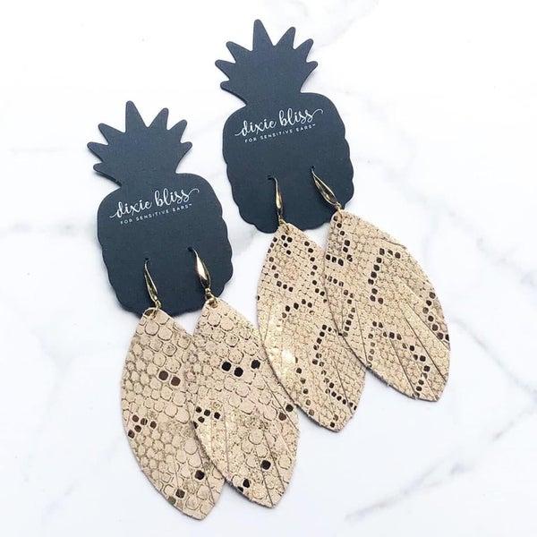 Eden Gold. Python Earrings
