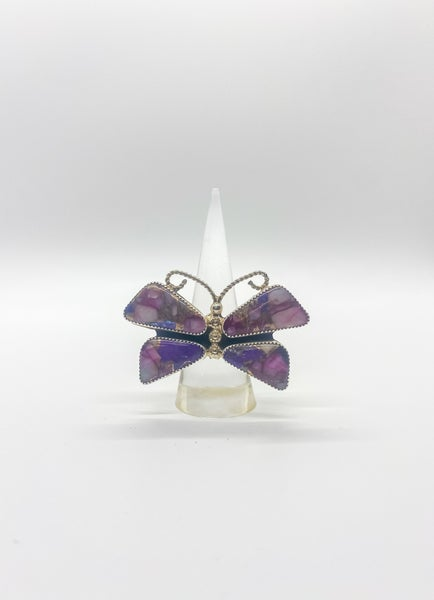 Purple Mohave Turquoise Butterfly
