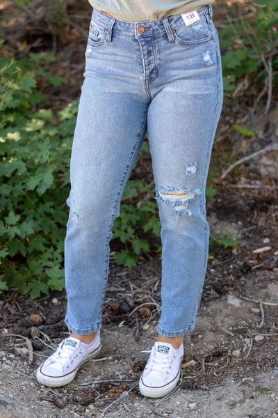 Celebrity Pink Liz Mid-Rise Relaxed Distressed Jean