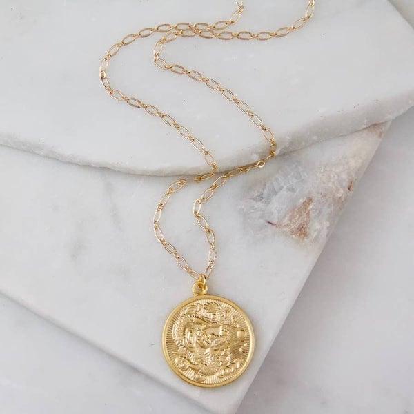 Dragon Coin Necklace