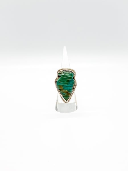 Sterling Silver Native Handmade Turquoise Arrowhead Ring