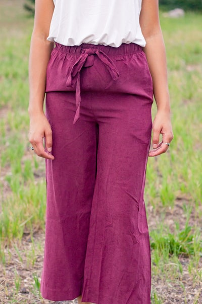 Textured Luscious Wide Leg Crop Pants