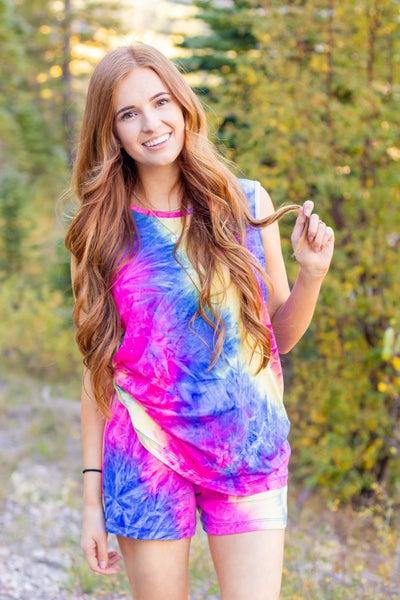 Michelle Mea- Tie Dye Rainbow Loungewear Set
