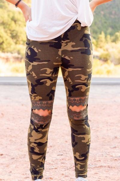 Lace Cut-Out Legging