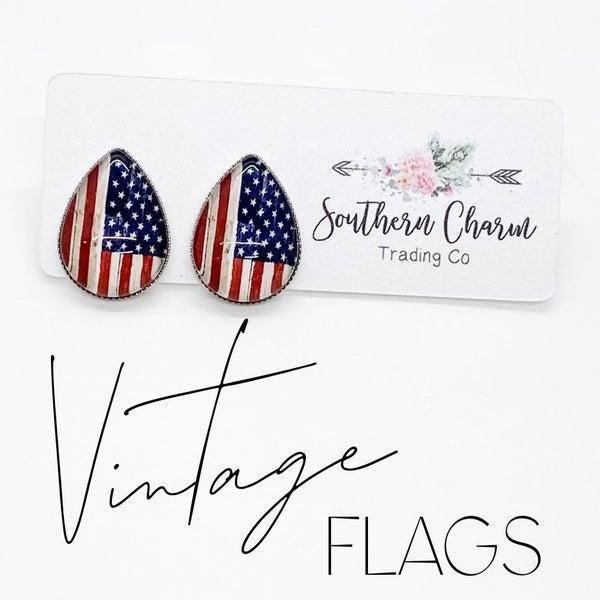 Vintage Flag Tear Drops
