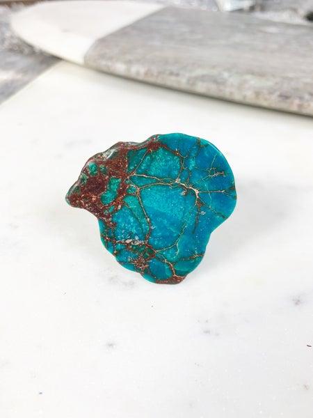 Handmade Blue Regalite Ring