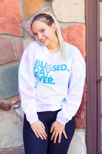 Blessed Day Ever Ribbed Sweatshirt