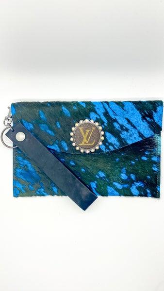 Upcycled LV Genuine Leather Wristlet