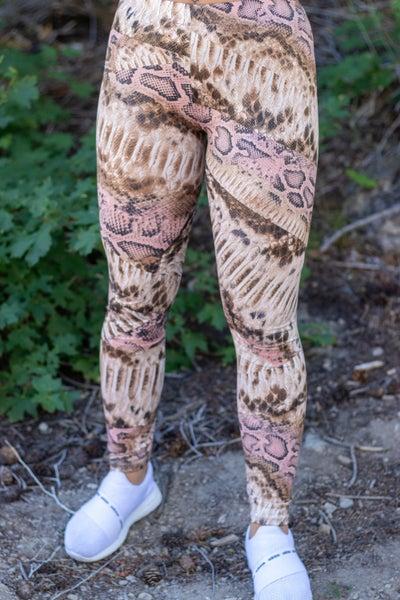 High Waist Snake Print Leggings