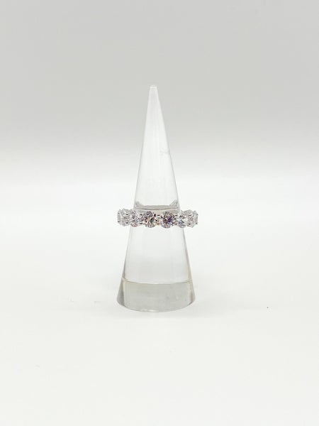 Sterling Silver Round CZ Eternity Ring