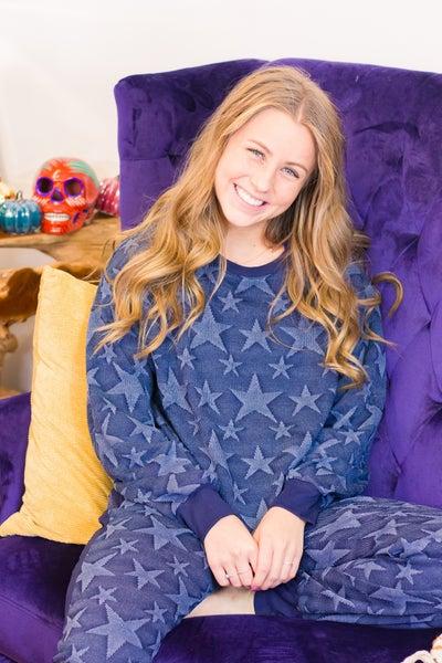 Soft Star Jaquard Star Loungewear Set