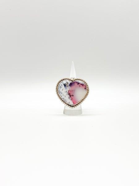 Heart Sterling Silver QTZ Ring