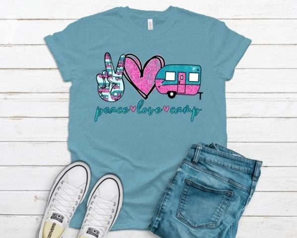 Peace Love Camp Graphic Tee