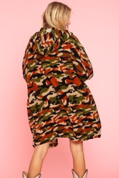 Hooded Army Camo Jacket