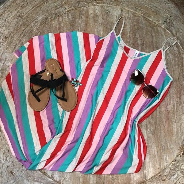 Carole Multi Stripe Sun Maxi Dress