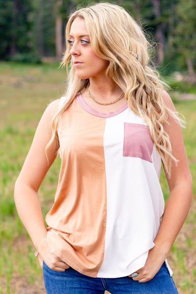 Carrie Color Block Tank Top