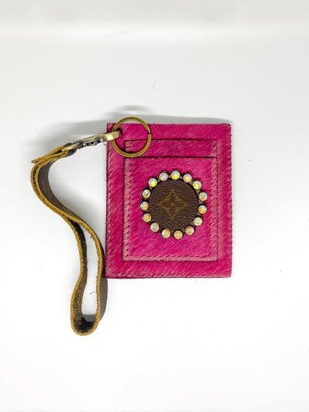 UpCycled LV Card Wristlet