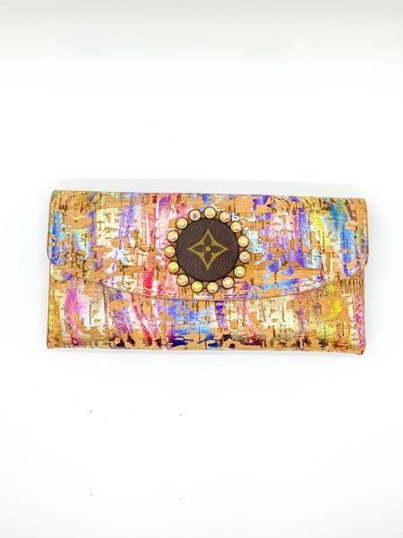 Vegan Metallic Tri-Fold Wallet
