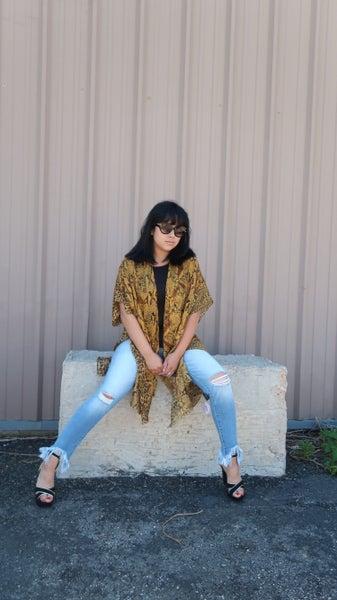 Kan Can Lola High Rise Distress Skinny Jean