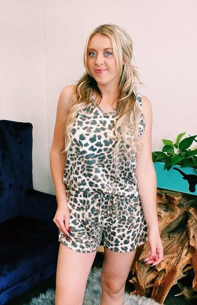 Leopard Short Loungewear Set