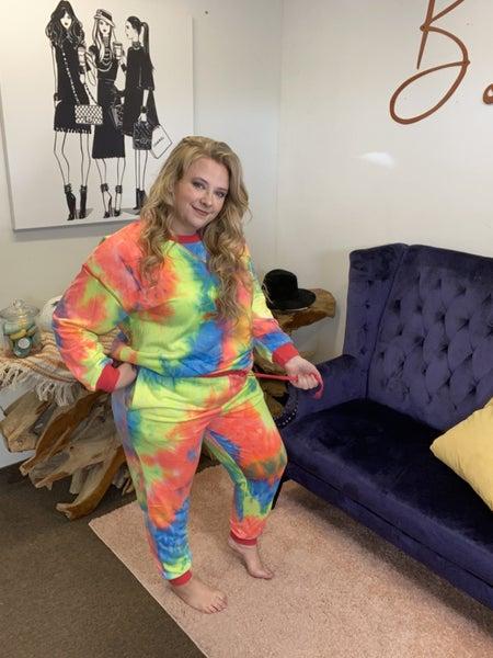 ODDI Tie Dye Curvy Fit Lounge Set