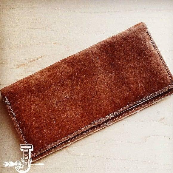 Hair-on-hide Leather Wallet-Tan Brindle